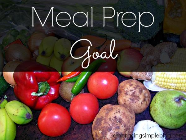 Meal Prep Goal