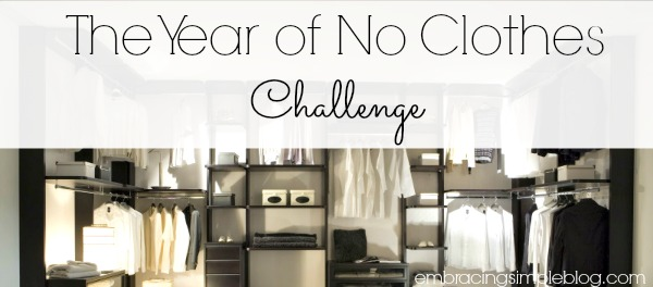 The Year of No Clothes Challenge