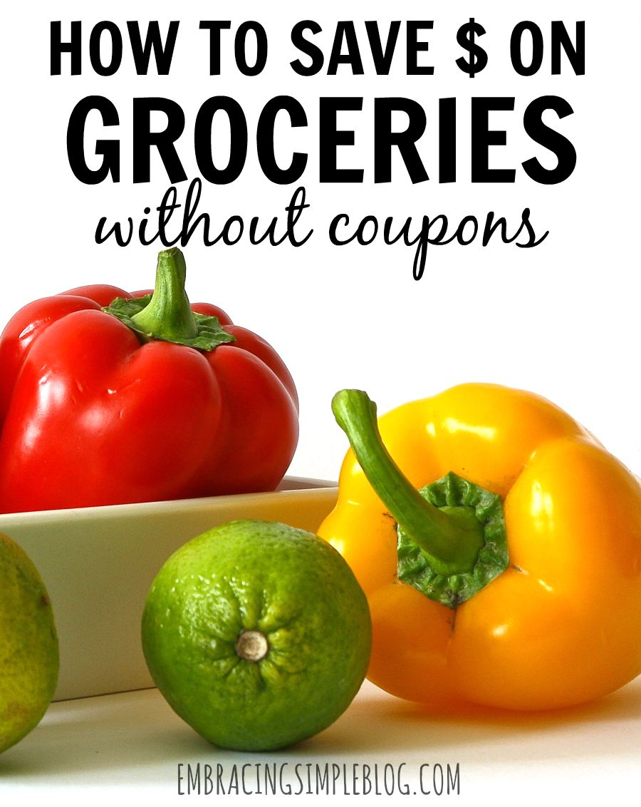 Would you like to save money on your groceries, but dislike couponing or just simply don't have the time for it? Click to read how to save money on groceries WITHOUT using coupons.