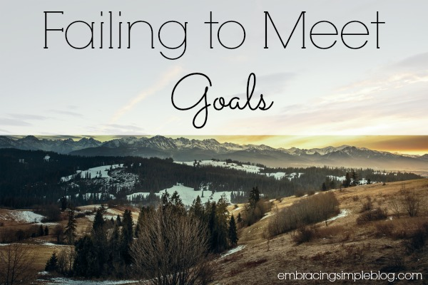 failing to meet goals february goal update and march new goals