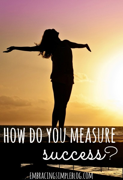How do you measure success? Everyone has their own definition of what success looks like in business and life, so it's important to be true to yourself. Click to read the full article at www.embracingsimpleblog.com.