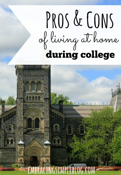 Should you live at home and commute during college to save money? Here are all of the pros and cons of living at home during college!
