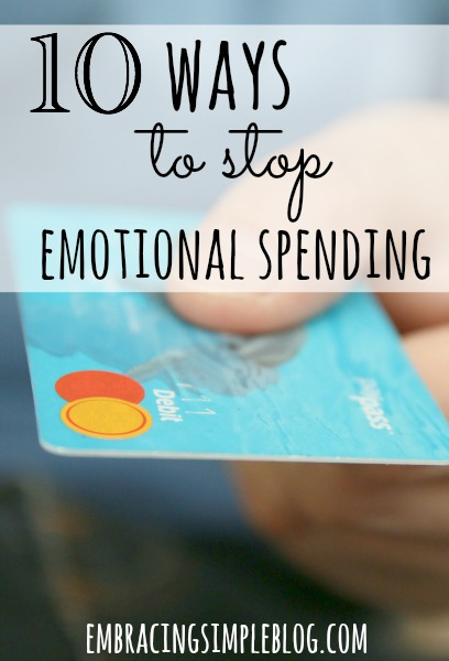 Do you use shopping as a pick-me-up when you are feeling down in the dumps? Here are 10 Ways to Stop Emotional Spending right now!