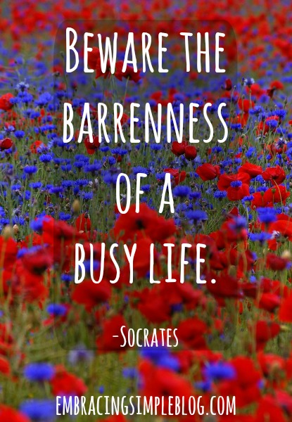 Visit www.embracingsimpleblog.com to learn more about ways to make your life easier.