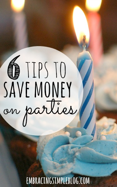 Throwing a fabulous party doesn't have to mean spending a fortune! These 6 tips for saving money when hosting a party will help you stick to your party budget!