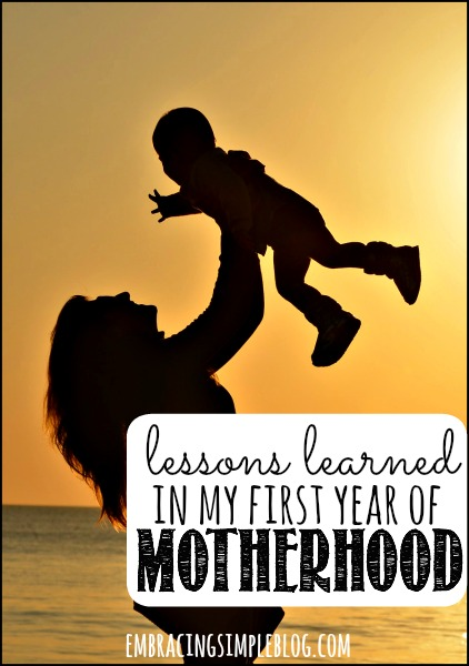 Motherhood has so far been the most joyful, heart wrenching, and humbling experience of my entire life. I'm sharing the most powerful lessons I've learned in my first year of motherhood!