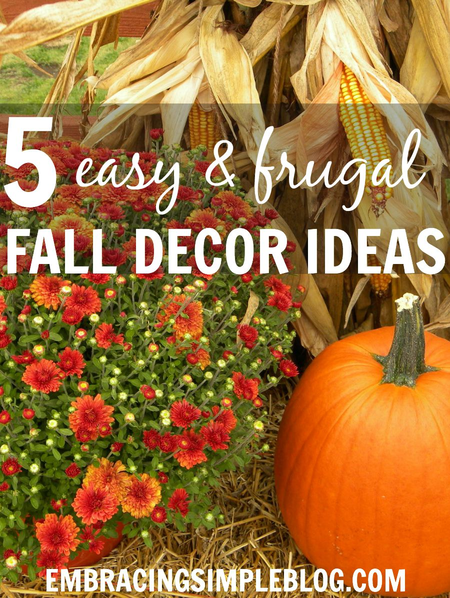 Wondering how to decorate your home for fall within a budget? Here are 5 easy and inexpensive fall decor ideas that are practical too!