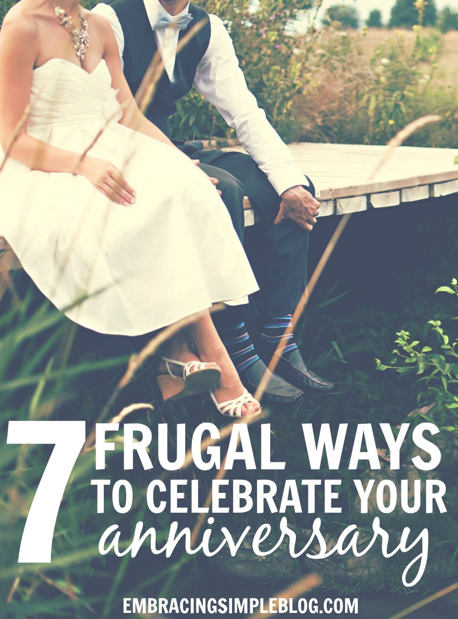 Looking for fun celebration ideas that will allow you to enjoy your spouse's company but won't bust your budget? Here are 7 frugal ways to celebrate your anniversary or any other special occasion. These even make for great regular date night ideas!
