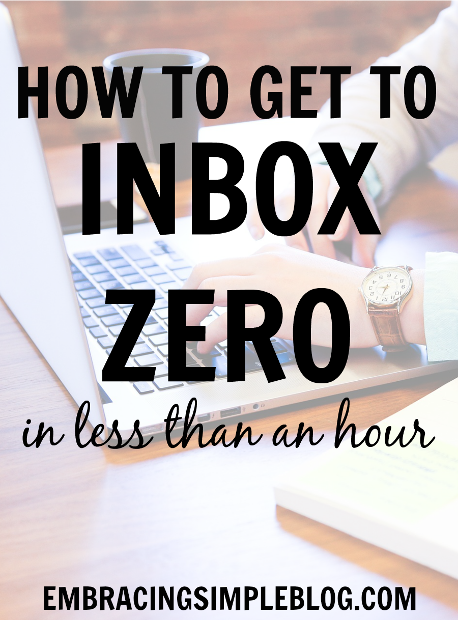 Is your overflowing inbox stressing you out? Learn how to get to Inbox Zero in less than an hour and finally get a handle on your email with these tips!