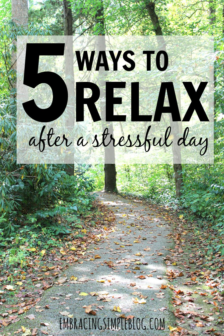 Is the busyness of everyday life making it difficult to handle your stress levels? Here are 5 ways to relax after a stressful day so you can feel at peace and calm again!