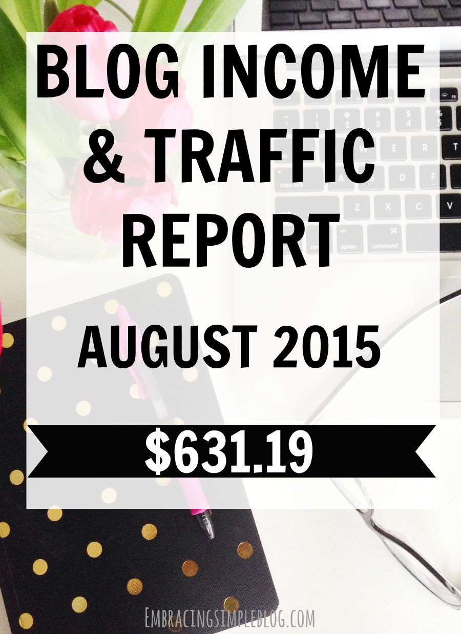 Want to know how I increased my blog income by 215% last month? I'm sharing how I earn an income from blogging in my August 2015 Blog Income and Traffic Report!. Learn how to earn an income from home doing something you love!