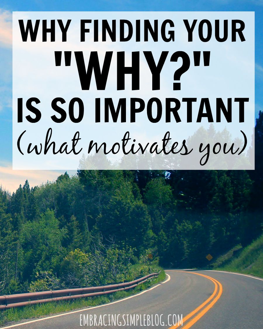 "What drives you in your life? Click to read why finding your ""WHY"" is important in staying motivated and following your dreams!"