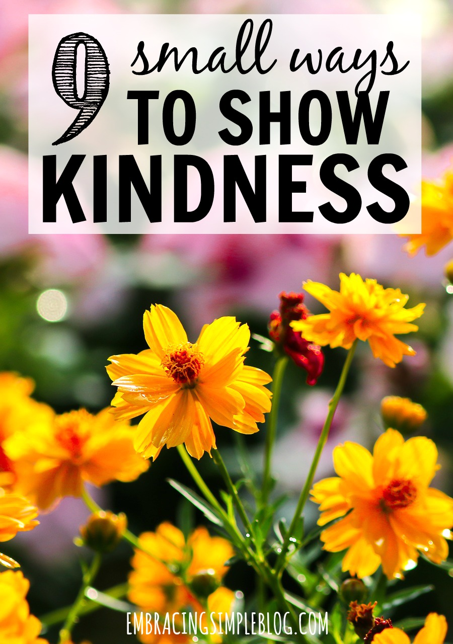 Small acts of kindness can reap big benefits in happiness for everyone involved. Click to learn the 9 small ways to show kindness to others so you can spread joy to those around you!