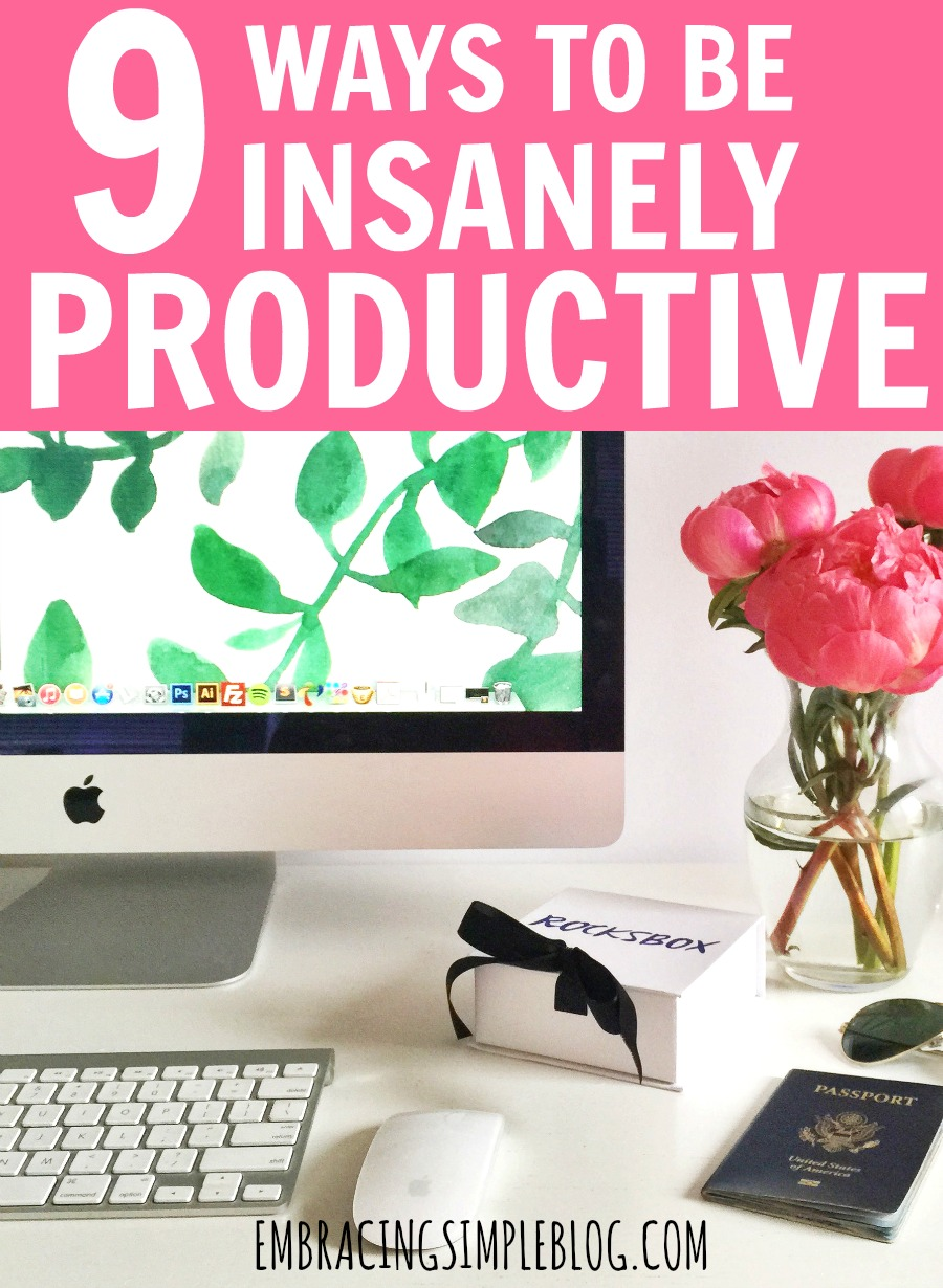 While you can't create more time, you CAN learn how to make the most of your existing time so that you spend less time working and more time enjoying life! Don't miss these 9 Ways to be Insanely Productive!