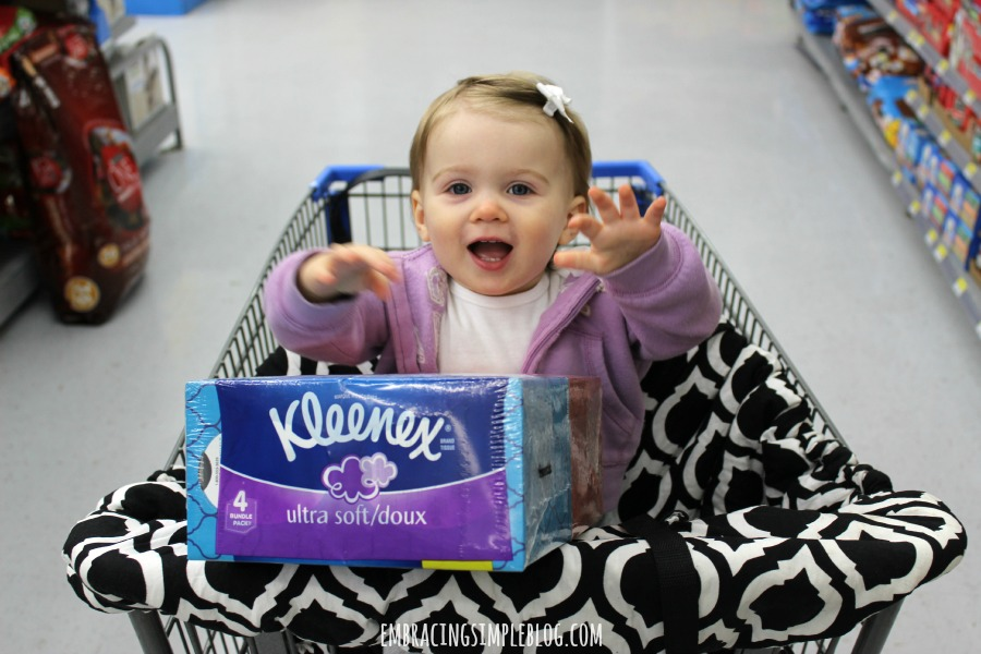Little Miss Shopping for Kleenex