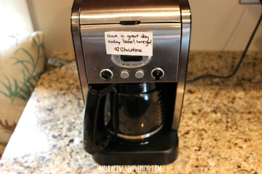morning note on coffee
