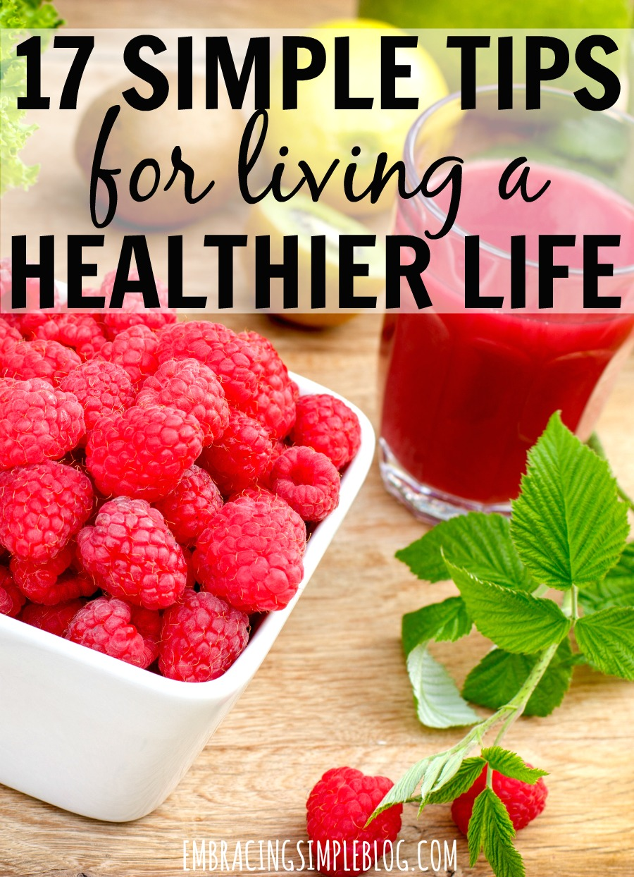 You want to live a healthier life, but feel overwhelmed by the prospect of overhauling all of your meals or creating an intense workout regimen that you know you won't stick with. Here's the thing -- you don't HAVE to make major changes to see major results. Click to read these 17 super simple tips for living a healthier life!