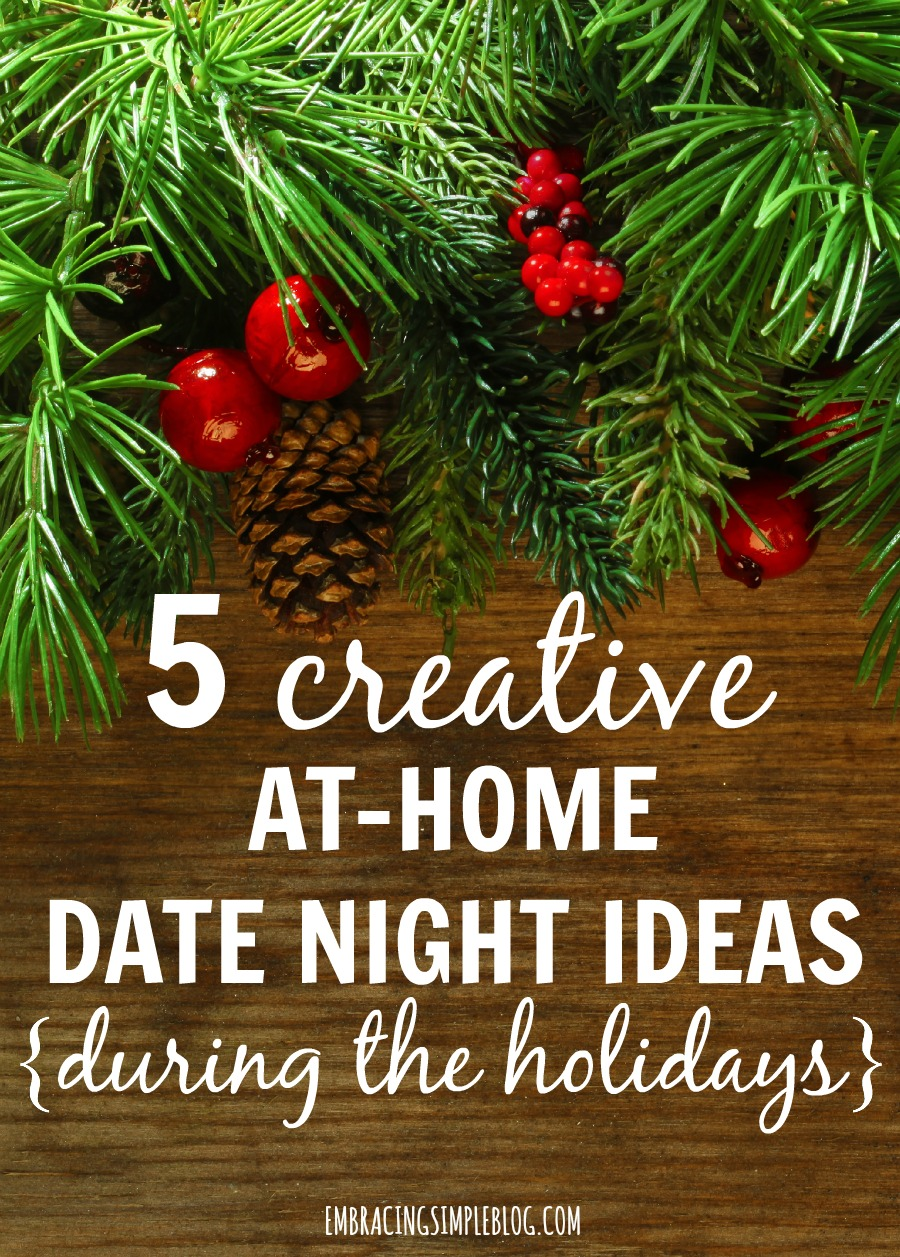 Are the holidays a time of stress and angst for you and your significant other? Click to read these awesome ways to spend some quality time together this holiday season that you don't even have to leave your home for! These are 5 creative ways to enjoy a date night at home during the holidays :)