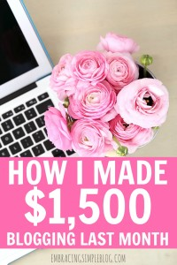 Want to know how I made $1,500 from blogging last month as a stay-at-home Mom? I'm sharing exactly how I earn an income from blogging in my October 2015 Blog Income and Traffic Report. Learn how to earn an income from the comfort of your own home while doing what you love!