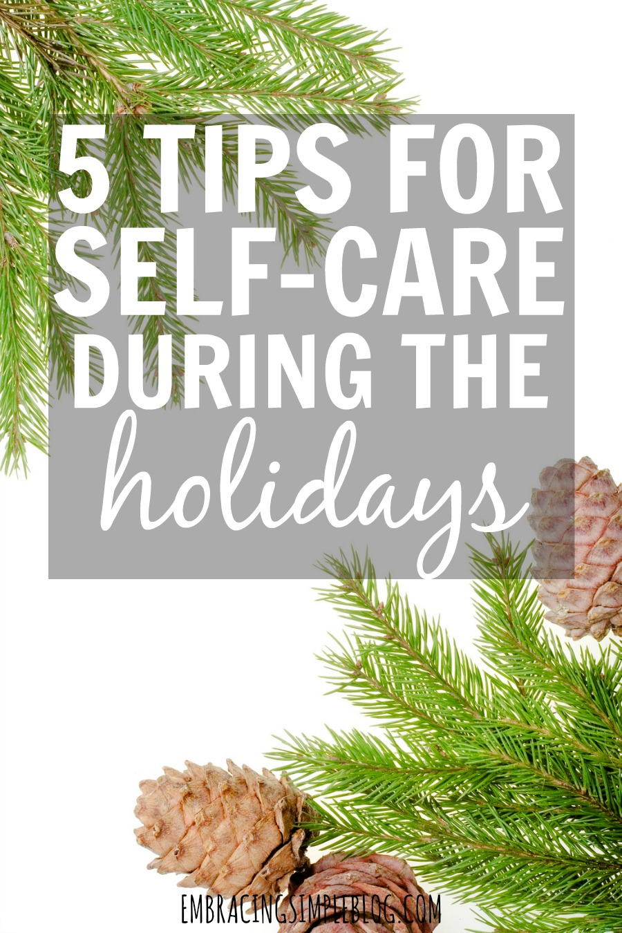 Do the holiday have you on the brink of exhaustion? Making self-care a priority during the holiday season is so important. Here are 5 tips for self-care during the holidays!