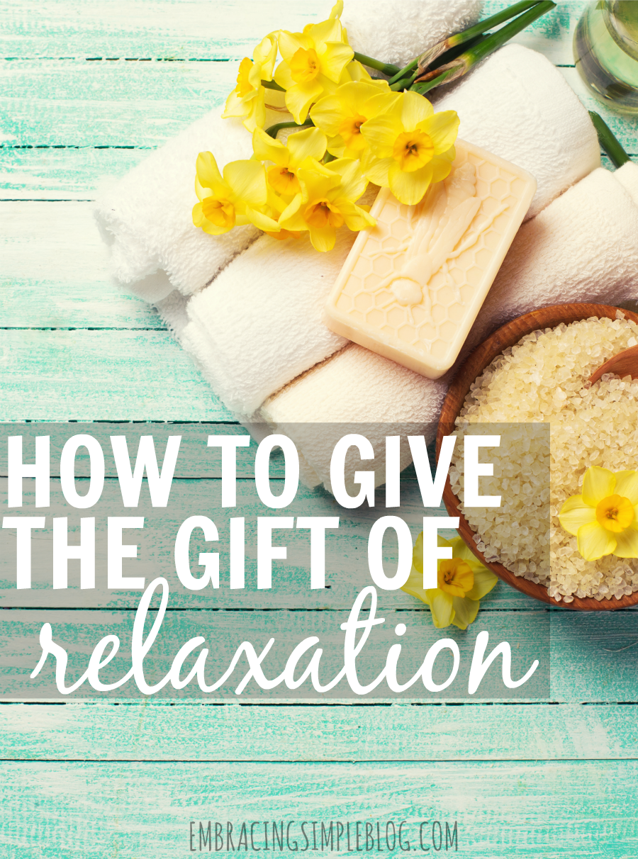The gift of relaxation is the best gift you could possibly give to your loved ones! Read these lovely gift ideas for how to give the gift of relaxation that will remind the recipient to take some time for themselves to just relax and be at peace.
