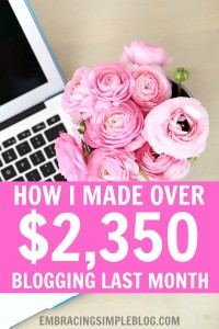 Want to know how I made over $2,350 from blogging last month as a stay-at-home Mom? Click to read exactly how I earn an income from blogging in my December 2015 Blog Income and Traffic Report!