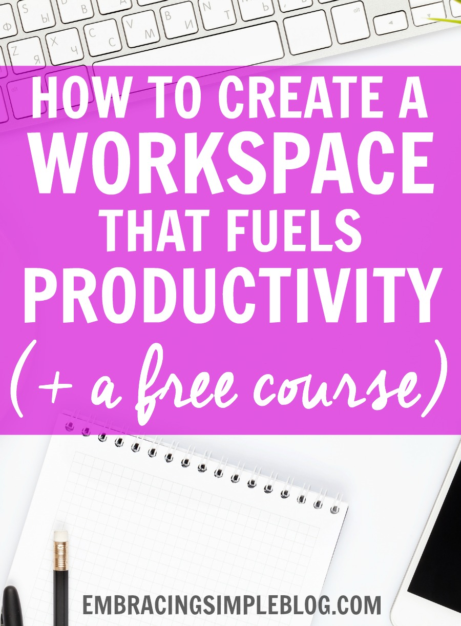 Do you often find yourself struggling to be productive while working in your home office or at your desk at work? Read these awesome tips to figure out how to create a workspace that fuels productivity so you can be a productivity beast! :) Plus a free course to learn even more time management tips!