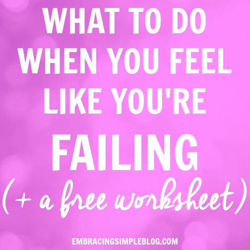 What to Do When You Feel Like Youre Failing Free Worksheet – Your and You Re Worksheet
