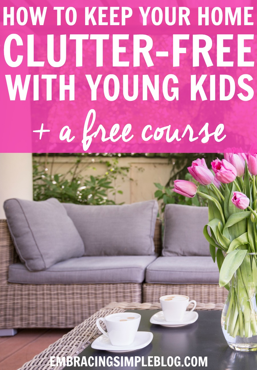 It can be so difficult to keep clutter at bay when you have babies or toddlers running around your home! Click to read these great tips for how to keep your home clutter-free with young kids, and to sign up for a FREE COURSE with even more wonderful decluttering tips :)