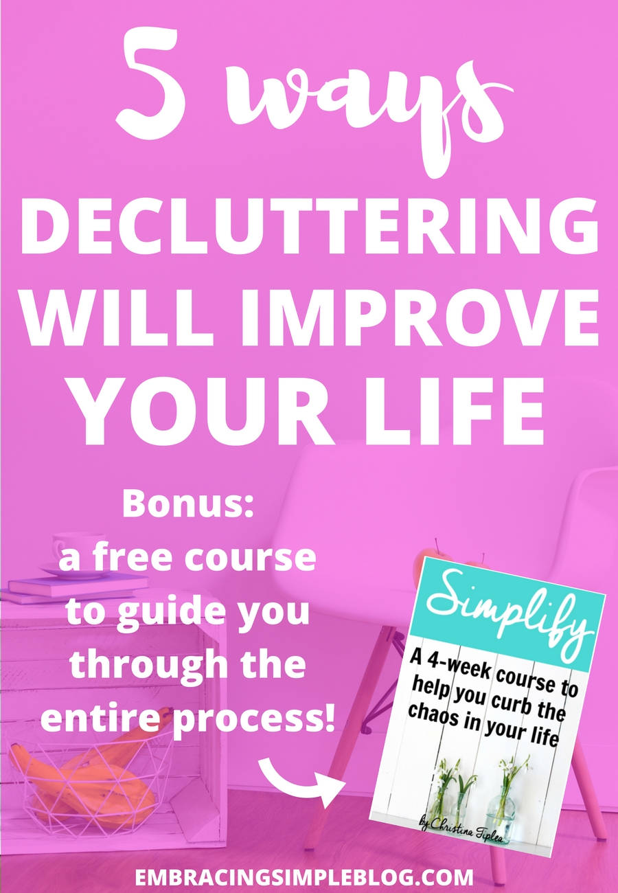 Do you feel like your possessions are swallowing you whole? This post will be the inspiration you need to take back control of your life once and for all! Don't miss these 5 ways decluttering will improve your life :)